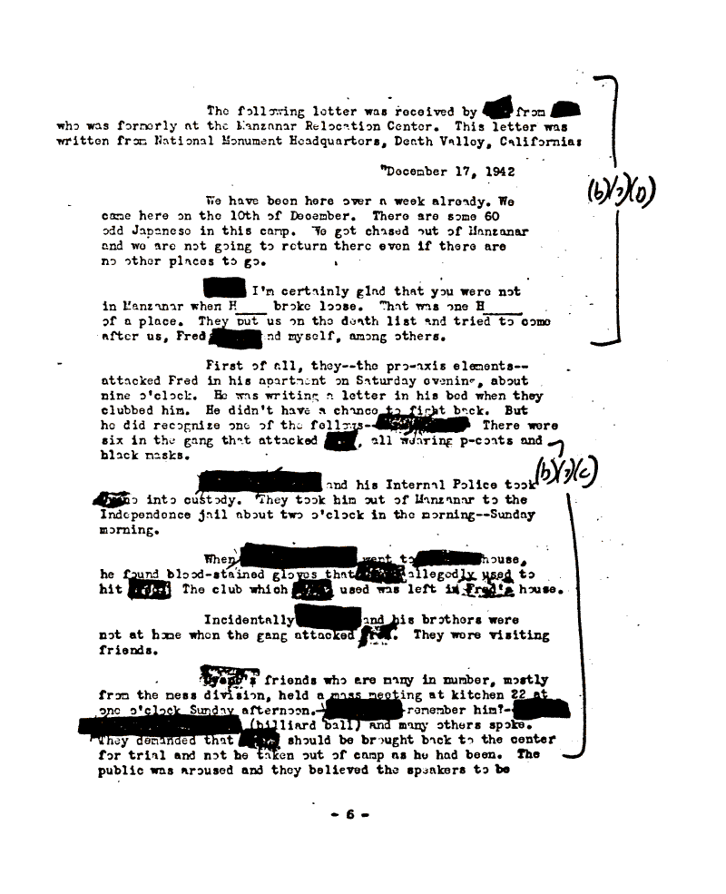 Internment Archives: Confidential informant reports on